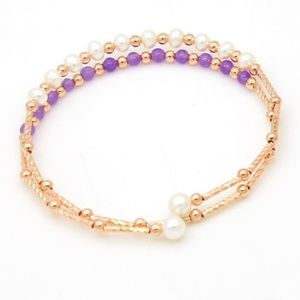 Jewelry - Adjustable Gold and Freshwater Pearl Bracelet